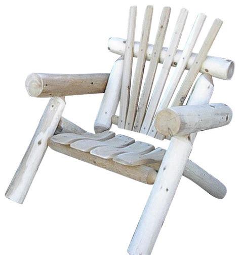 rustic white cedar log lawn chair only 1 chair rustic
