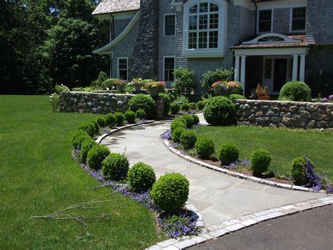 home courtyard boxwood walkway michael sinisi