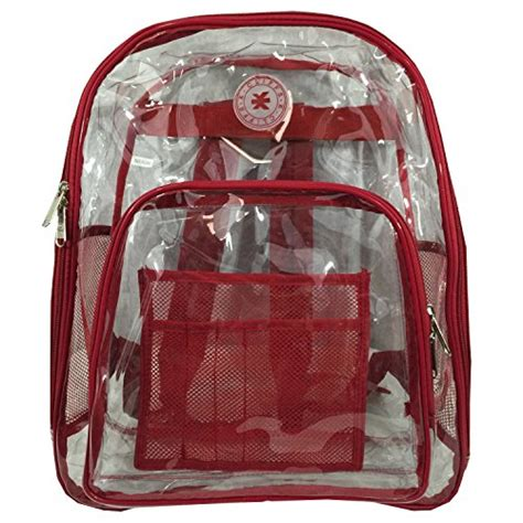 heavy duty clear backpack see through daypack student