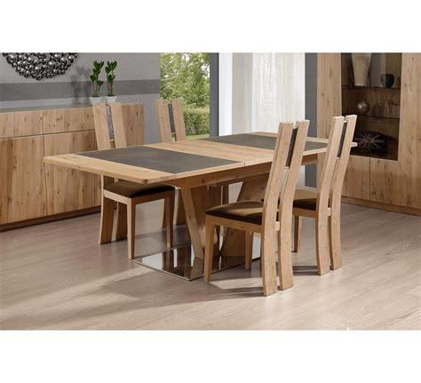 table de cuisine pied central table pied central rectangulaire en chêne et céramique