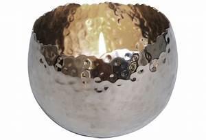 Kerzenständer Silber Groß : holl nder windlicht 1 flg profilio rund gross metall silber geh mmert ~ Frokenaadalensverden.com Haus und Dekorationen