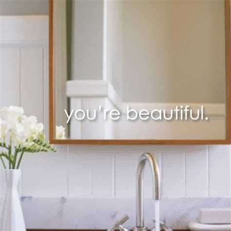 Mirror Decals For Bathrooms by Inspirational Wall Decals You Re Beautiful Wall Decal