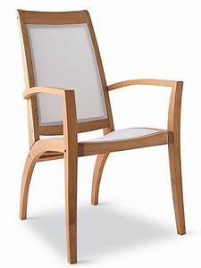 Chaise Fauteuil Avec Accoudoir : wave bt fauteuil de jardin en bois robinier et textilene blanc sediarreda ~ Melissatoandfro.com Idées de Décoration