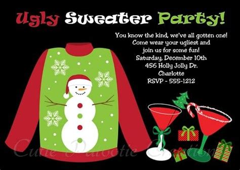 ugly sweater party invitation printable digital