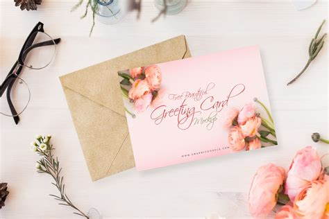 Latest collection of free invitation mockup psd templates online! Beautiful Greeting Card PSD MockUp - Age Themes