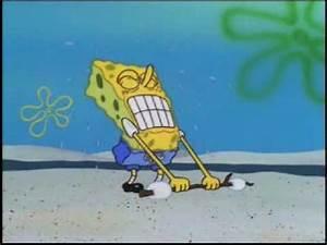 Spongebob tries to lift marshmallows as I play fitting ...