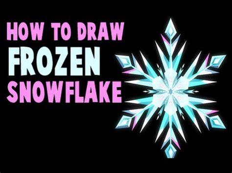draw elsas snowflake  frozen youtube