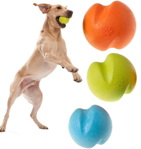 durable dog ball west paw jive  tough dogs