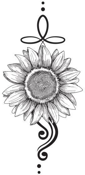 sunflower black tattoo tattooforaweek temporary tattoos largest temporary tattoo shop