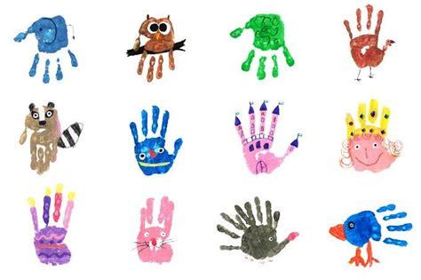 handprints  kinder kalender basteln und baby basteln