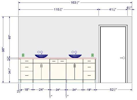 norme hauteur plan de travail cuisine revger com hauteur standard meuble salle de bain