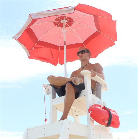 lifeguard umbrellas keep lifeguards protected