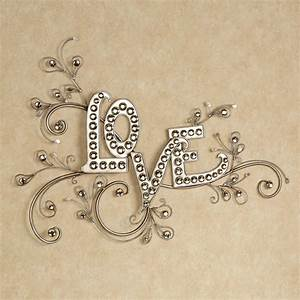 sparkling love gem word wall art With word wall art
