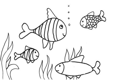 contoh gambar mewarnai ikan gambar mewarnai
