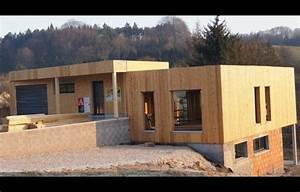 Maison Avec Sous Sol Sur Terrain En Pente : plan maison ossature bois avec sous sol boismaison ~ Melissatoandfro.com Idées de Décoration