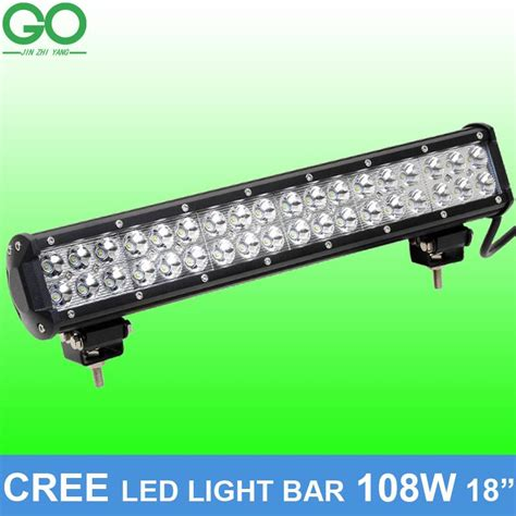 18 inch 108w cree led work light bar for offroad boat car