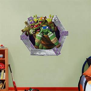 tmnt goofy faces collection fathead wall decal With awesome ninja turtle wall decals