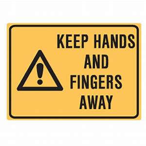 Keep Hands And Fingers Away Labels 90x125 SAV Pk5