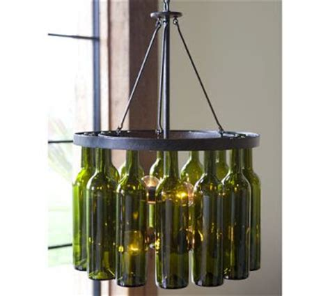 Recycled Wine Bottle Chandelier by And Noble Reduce Reuse Recycle Wine Bottles