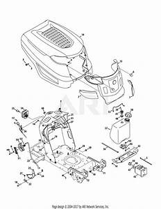 Troy Bilt 13wm77ks011 Pony  2015  Parts Diagram For Hood