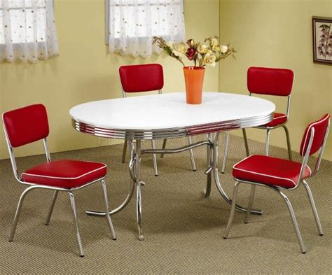 chrome table and chairs decorating with chrome furniture