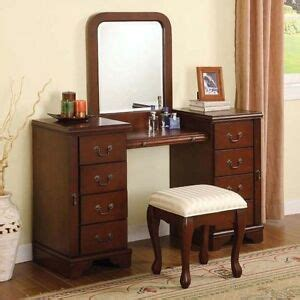 Vanity Table With Mirror And Drawers by Cherry Louis Philippe 3 Pc Make Up Table Bench Mirror 8