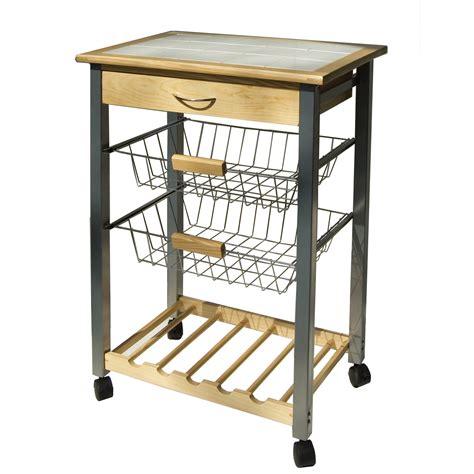 kitchen island with baskets kitchen cart with baskets by neu home in kitchen island carts 5199