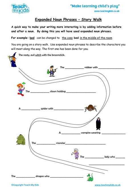 expanded noun phrases story walk tmk education