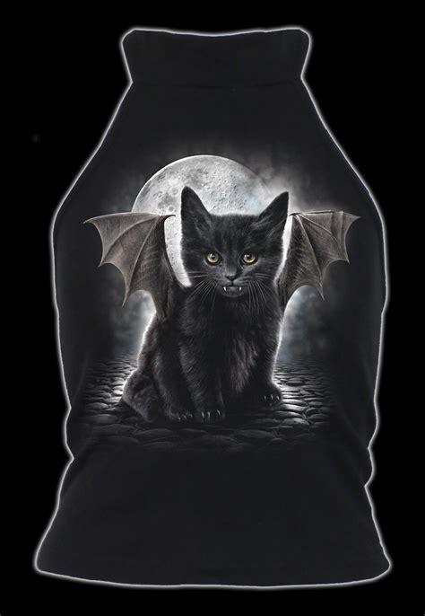 damen top gothic katze bat cat damen shirts tops