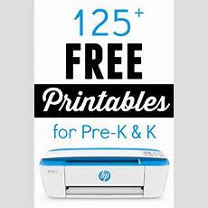 125 Free Printables For Prek And Kindergarten