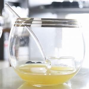 Verre à Punch : grand bol punch en verre transparent verrerie chic bruno evrard ~ Teatrodelosmanantiales.com Idées de Décoration