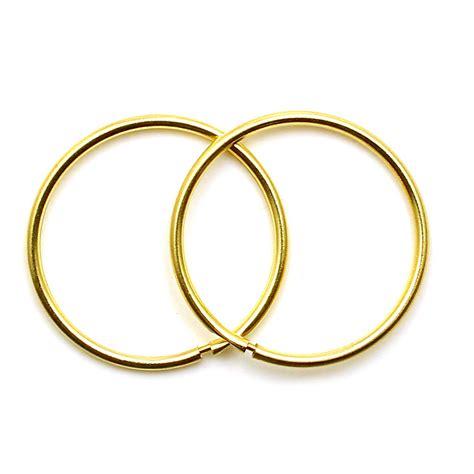 ct gold hoop earrings  mm plain sleepers light weight
