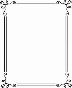 borders and frames | Simple Elegant Black Frame 2 - Free ...