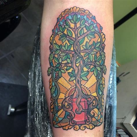dazzling stained glass tattoo ideas