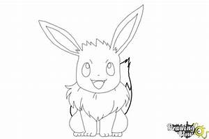 How to Draw Pokemon - Eevee - DrawingNow