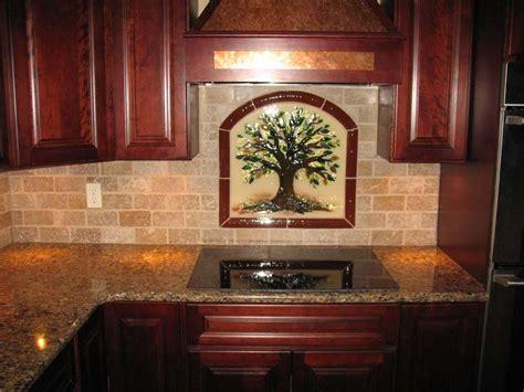 tree  life kitchen backsplash  fused glass