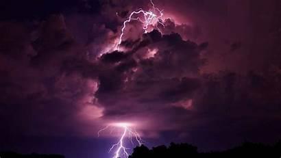 Storm Lightning Wallpapers 3d Desktop Nature Purple