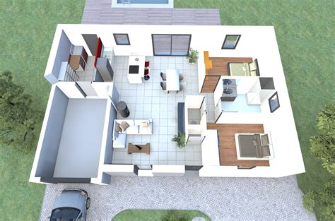 plan chambre 3d visualisez le plan 3d d 39 un de nos modèles de maison 2