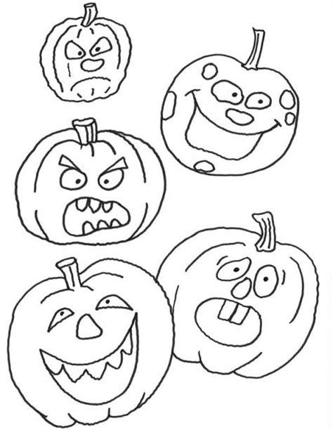 kostenlose malvorlage halloween verschiedene kuerbisse zum