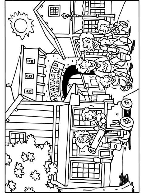 Kleurplaat Slagharen by Kleurplaat Bataviastad Lelystad Kleurplaten Nl