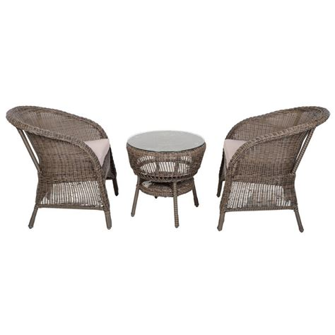 marseille wicker rattan coffee table 2 chairs garden