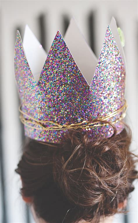 glitter twist birthday crowns  subtle revelry