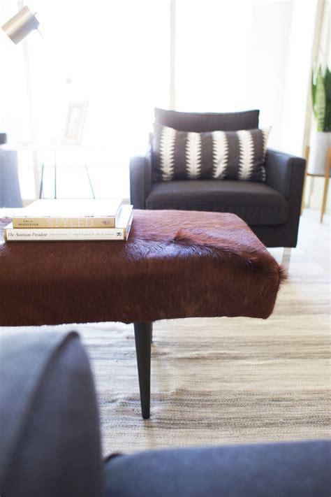 Ikea Hack Cowhide Ottoman — Kristi Murphy  Diy Blog