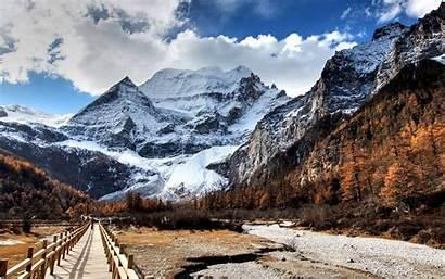 Snow Mountain Nature Pixel Mountains Wallpapers Wallpapersafari