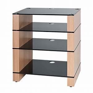 Hi Fi Rack : hifi stand four shelf av furniture audio rack blok stax ~ Whattoseeinmadrid.com Haus und Dekorationen
