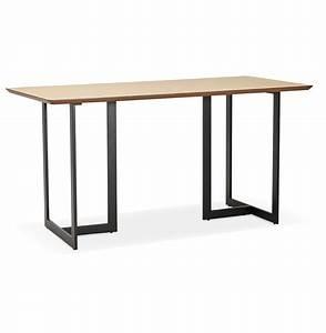 Table Bois Naturel : table design titus en bois naturel bureau moderne 150x70 cm ~ Teatrodelosmanantiales.com Idées de Décoration