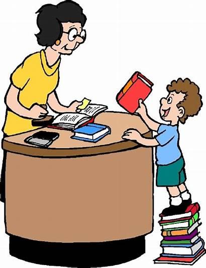 Library Clipart Clip Books Return Librarian Check
