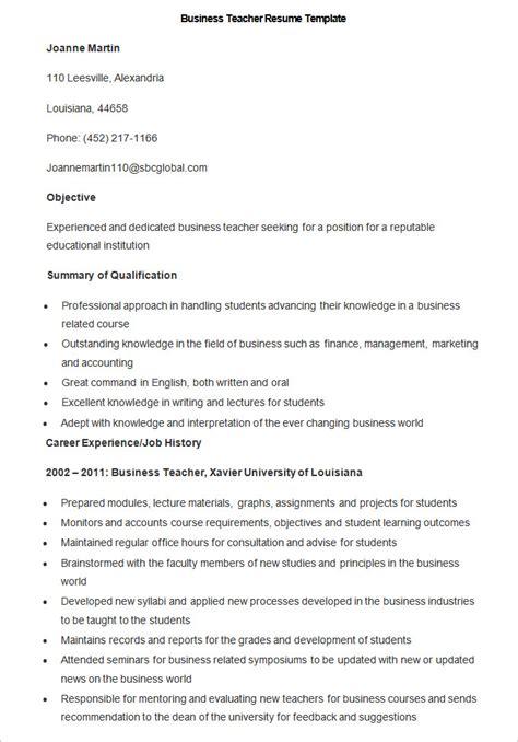 good teacher resume template