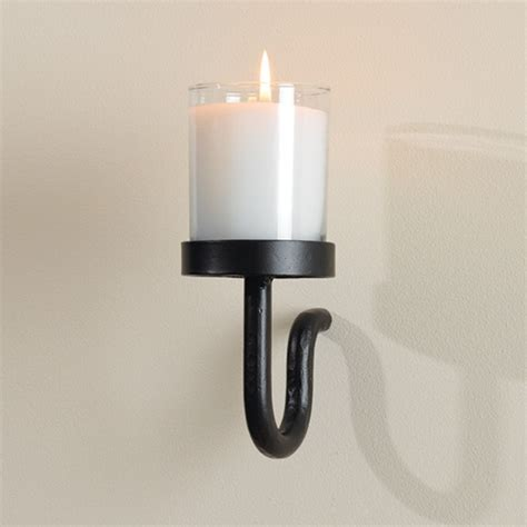 tealight wall sconce wrought iron curl votive lite wall sconce by global views