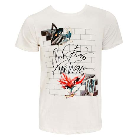 pink floyd s white the wall t shirt